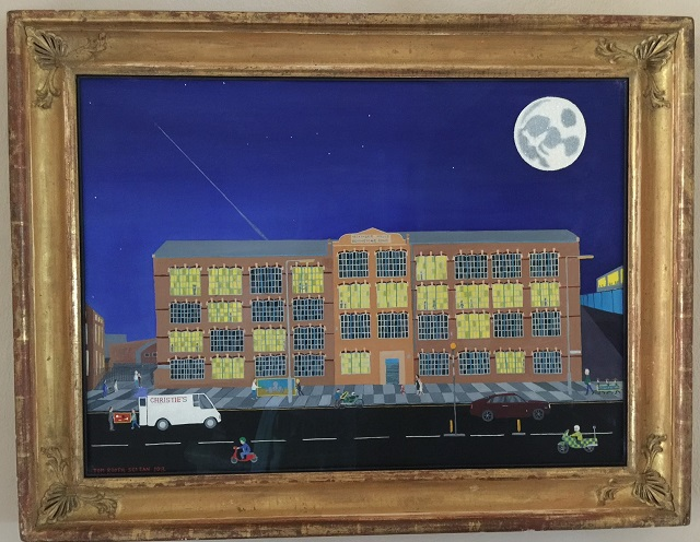 Painting of Neckinger Mills building by Tom Rooth